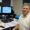 Bob Lokken, CEO of WhiteCloud Analytics, in his downtown Boise office