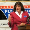Democrat Ann McLane Kuster focused heavily on the economy during her stump speech in Plymouth