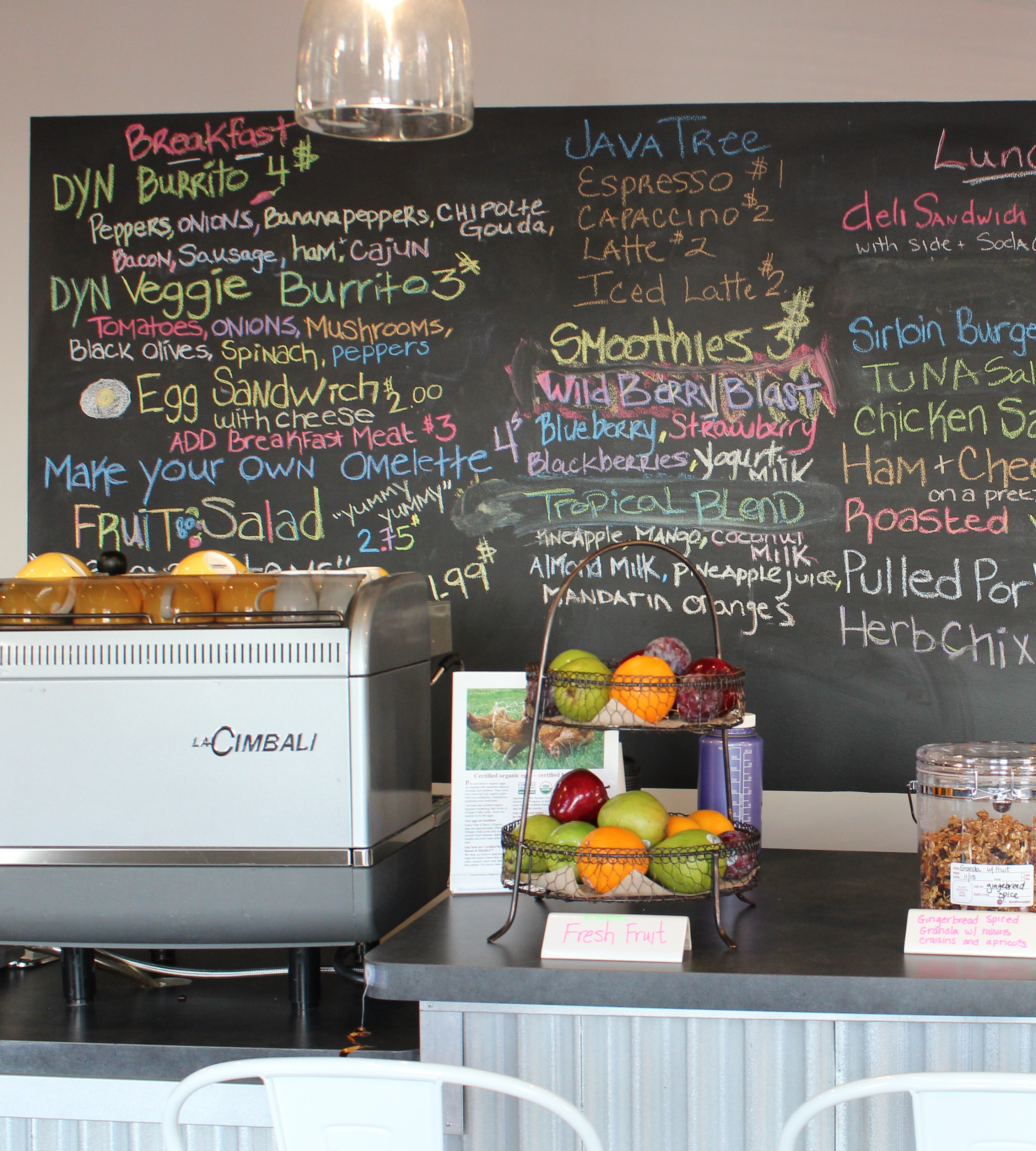 Manchester's Dyn, Inc has a farm to table menu for their employees