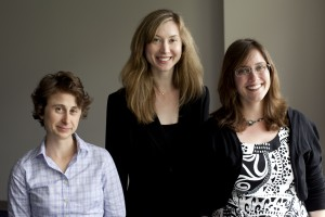 From Left: StateImpact Reporter Emily Corwin, NHPR News Director Sarah Ashworth, and StateImpact Reporter Amanda Loder