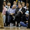 Chesapeake Energy CEO Aubrey McClendon and Oklahoma City Thunder owner Clay Bennet chat during an Oklahoma City Thunder game.