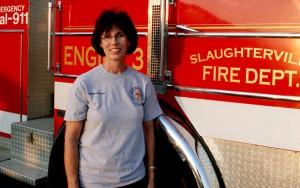 Marsha Blair, 57. Firefighter, town administrator.