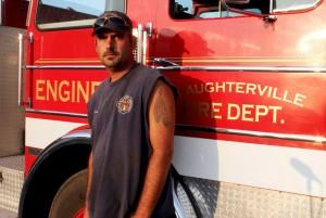 Russell Schat, firefighter.