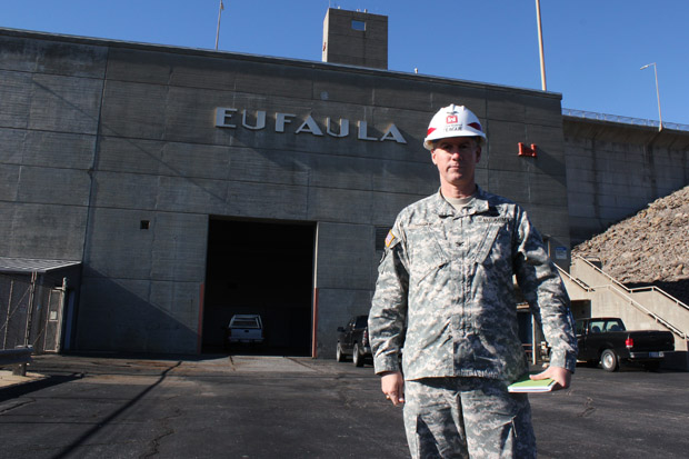 Col. Michael Teague commands the U.S. Army Corps of Engineers Tulsa District, which includes Lake Eufaula, a lake that illustrates the delicate balance of different water needs.