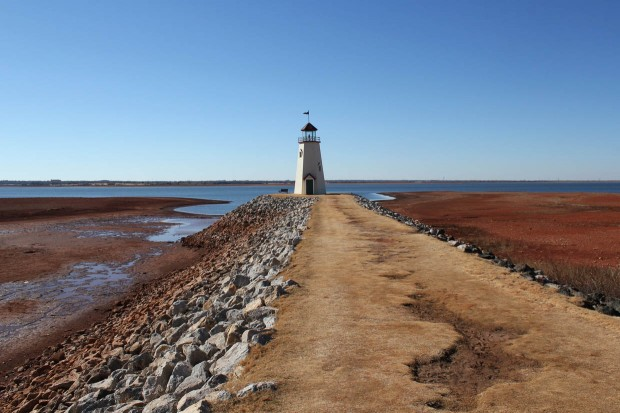 In January, Oklahoma City's Lake Hefner recorded its lowest lake level in its 66-year history.