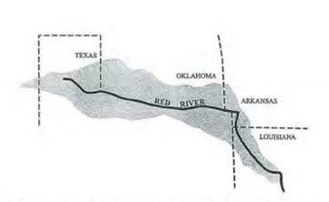 Tarrant Vs Herrmann StateImpact Oklahoma - The red river map us