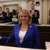 Gov. Mary Fallin, about to give her State of the State Address in 2013.
