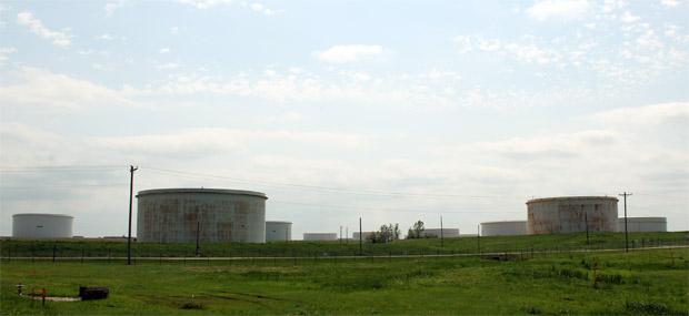 The oil hub in Cushing, Okla.
