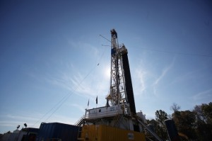 A Chesapeake Energy drilling rig in Ohio.
