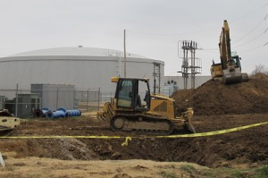 Construction underway on Broken Arrow's new water treatment plant taken in December 2012.