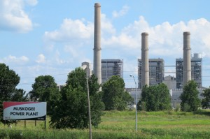 Oklahoma Gas and Electric's Muskogee Power Plant is on the list of coal plants that discharge waste into waterways.
