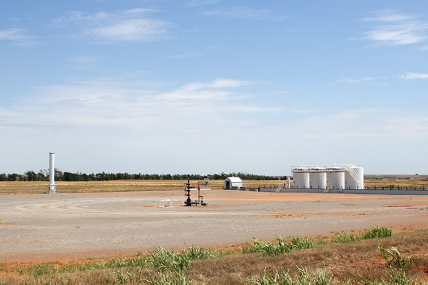 A waste fluid disposal well in western Oklahoma.