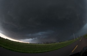 A mile-wide tornado near El Reno, Okla. on May 31, 2013.