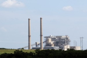 Oklahoma Gas & Electric's coal-fired Sooner Plant in Red Rock, Okla.