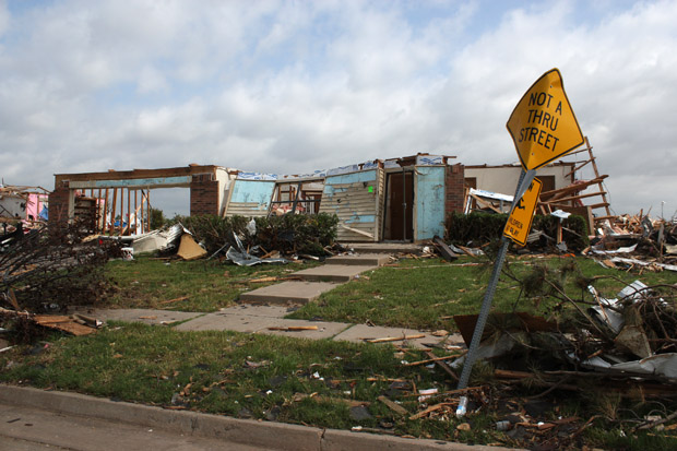 The skeleton of a home on Lakeview Drive in Moore, which was ravaged by the May 20, 2013 tornado.