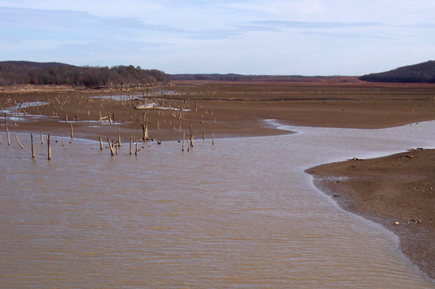 A portion of Atoka Lake from January 2013. Oklahoma City has been using Atoka Lake water for decades.