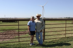 Tammy and Rick Huffstutlar have spoken out against wind farm development near their home in Calument, Okla.