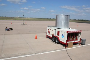 Advanced weather tools, like this phased-array radar being tested by engineers with OU's Advanced Radar Research Center, could help solve the wind farm clutter issue, but are likely decades from operation use, meteorologists say.