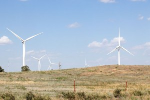 A wind farm in western Oklahoma.