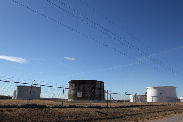 Crude oil tank farm in Cushing, Okla.