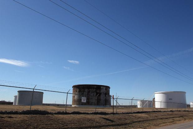 Crude oil tank farm in Cushing, Okla.