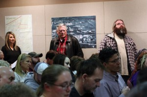 Bristow residents packed the public library during a January 2014 town-hall meeting, where officials from the Oklahoma Department of Environmental Quality and U.S. Environmental Protection Agency explained the Superfund cleanup process and answered questions.