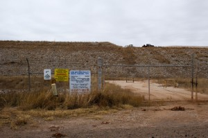 The Lone Mountain landfill near Waynoka, Okla.