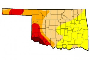 The latest U.S. Drought Monitor map of Oklahoma as of Feb. 25.