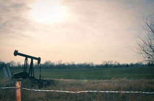 A pump-jack in an Oklahoma field.