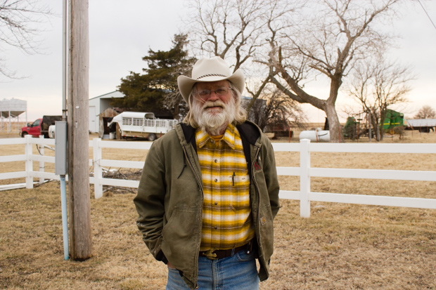 Joe Bush, owner of a ranch near Shidler, Okla., has signed agreements to lease land for two wind farms.
