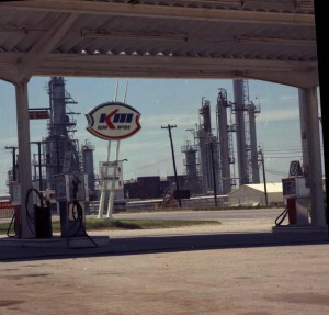 A Kerr-McGee service station and refinery in Wynnewood, photographed in 1974.