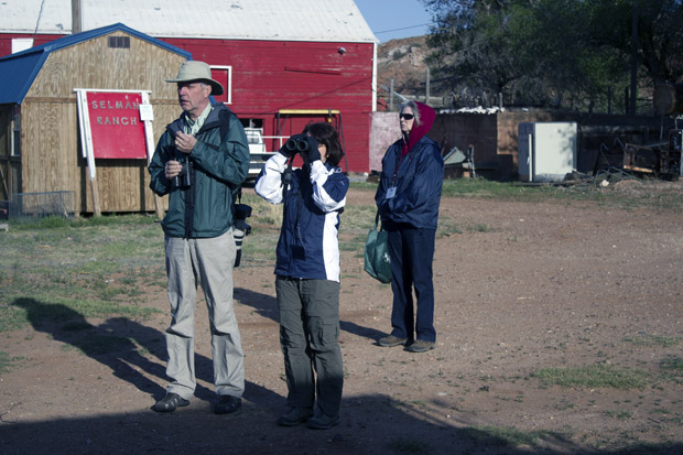 A group of bird watchers at the Selman Ranch, which hosts the Lesser Prairie Chicken Festival in Northwest Oklahoma.