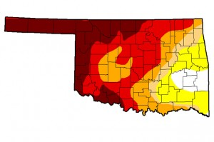 The May 27th update of the U.S. Drought Monitor showing some improvement in southwest Oklahoma.
