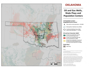 The environmental groups' petition points to oil and gas development in populated areas, such as Oklahoma City, Tulsa and Lawton.