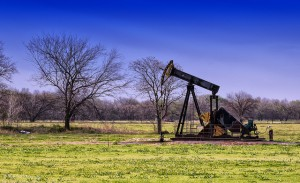 A pump jack near Kingfisher, Okla.