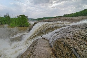 A waterfall at Disney State Park on Grand Lake in northeast Oklahoma.