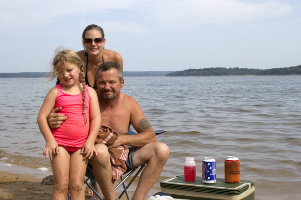 Harold and Amy Coulter with their granddaughter at Walnut Creek State Park, which closed due to budget cuts in October 2014.