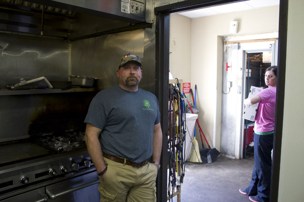 Chad Igo owns Pecan Creek Catering, which delievers food to workers in the oil patch.