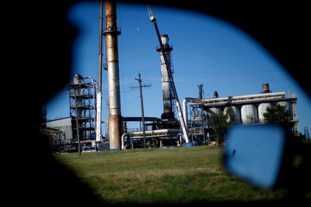 Photo of the Ponca City Continental Carbon plant from NPR's 2011 investigation Poisoned Places: Toxic Air, Neglected Communities.
