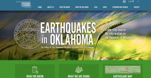 The offices of Gov. Mary Fallin and the Secretary of Energy and Environment debuted a new web portal, earthquakes.ok.gov, to serve as a