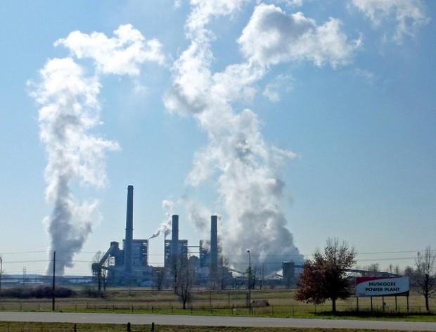 OG&E's coal-fired power plant in Muskogee, Okla.