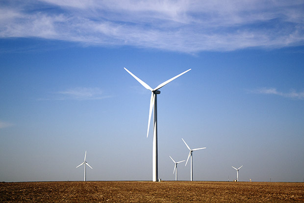 The Chisholm View wind farm near Hunter, Okla.
