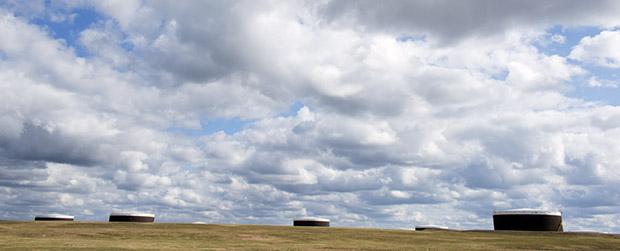 The U.S. oil hub near Cushing, Okla.