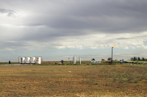An oil and gas operation in the Mississippi Lime formation in northwestern Oklahoma