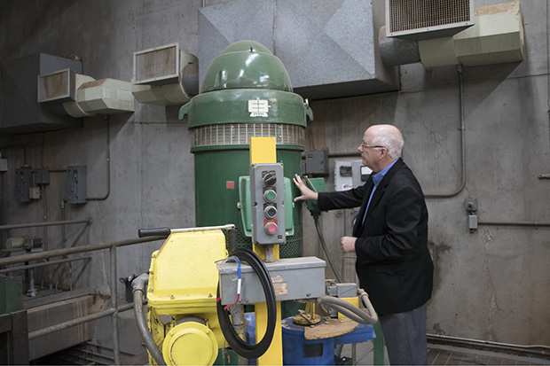 Dave Taylor, director of the Waurika Lake Master Conservancy District, checks on one of the water pumps at the lake's pump house, which send water to communities like Lawton and Duncan.