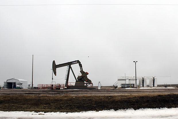 A SandRidge Energy well in northwestern Oklahoma.