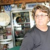 Donna McFadden in her closed convenience store along the north shore of Sardis Lake in southeastern Oklahoma.
