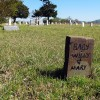 Grave sites at the Sardis Cemetery go back well into the 19th century and many of them are homemade.