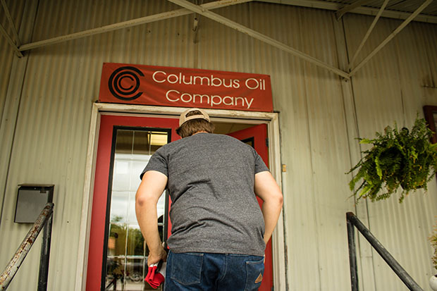 Columbus Oil's office in Seminole, Okla.