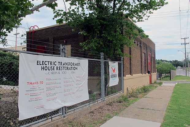 The restored Electric Transformer House at 2412 North Olie Ave. in Oklahoma City.
